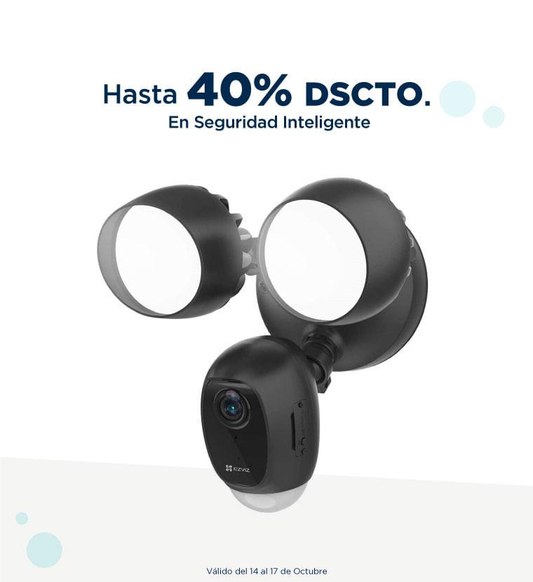 Hasta 40% de descuento en Seguridad inteligente