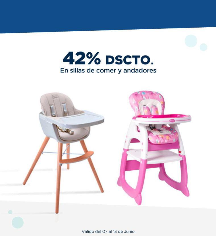 Hasta 42% de descuento en sillas de comer y andadores