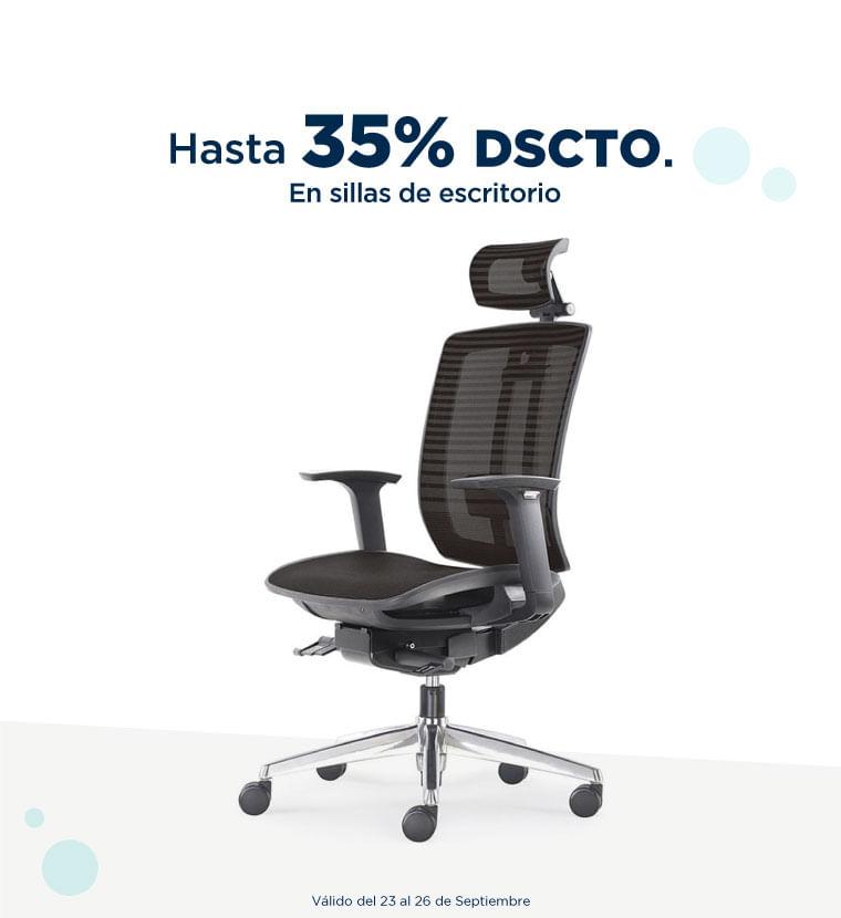 Hasta 35% de descuento en Sillas de escritorio