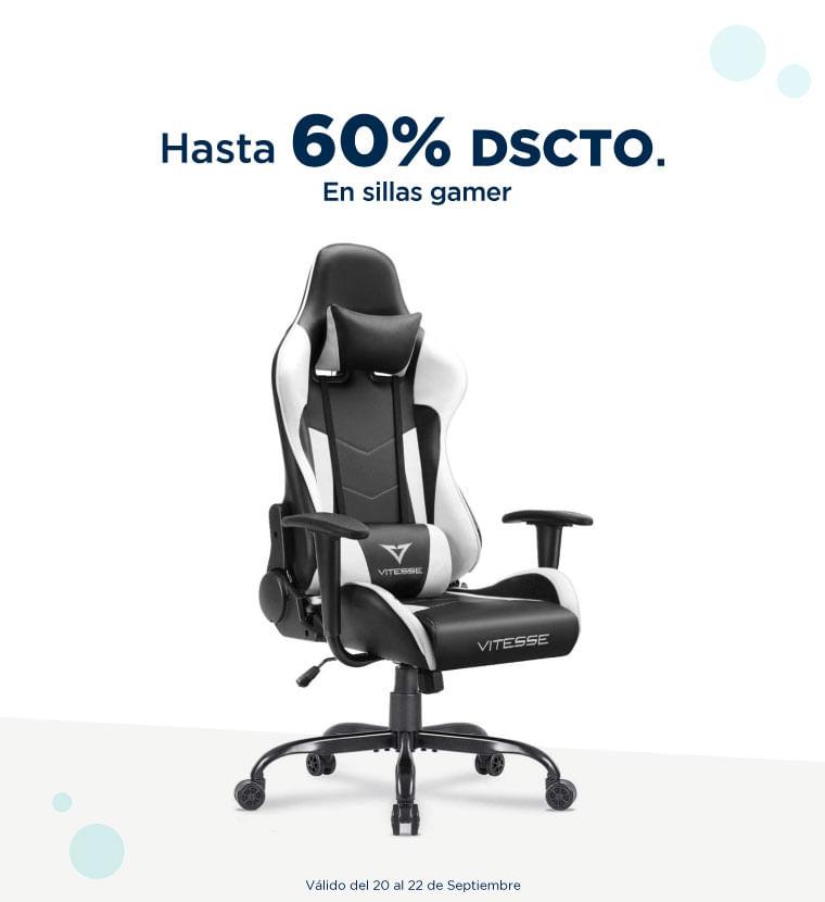 Hasta 60% de descuento en Sillas gamer