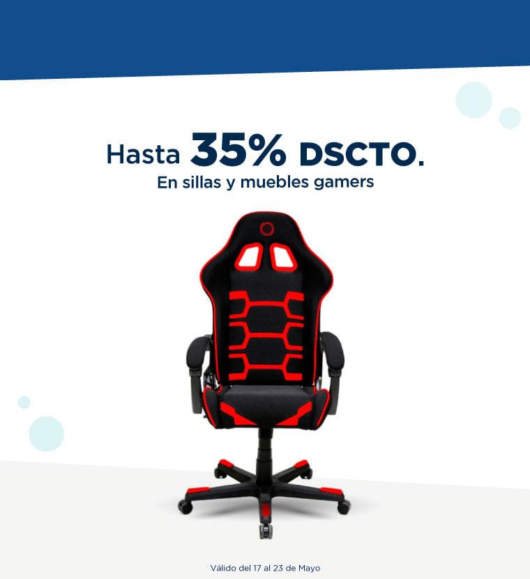 Hasta 35% de descuento en Sillas y muebles gamers