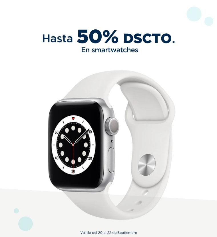 Hasta 50% de descuento en Smartwatches