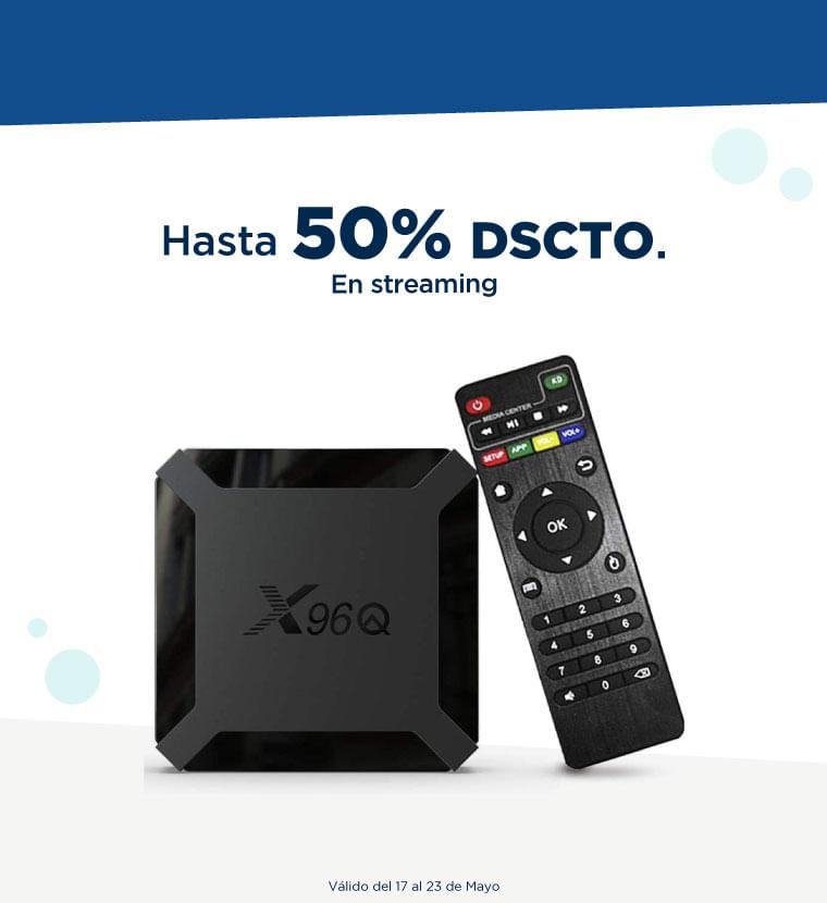 Hasta 50% de descuento en Streaming