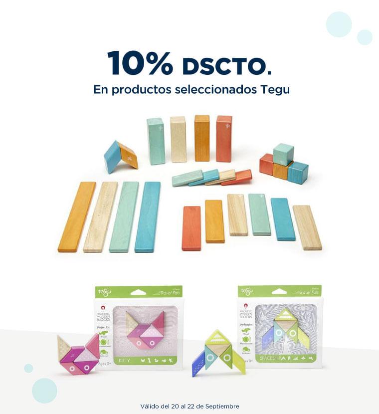 10% de descuento en Productos seleccionados Tegu