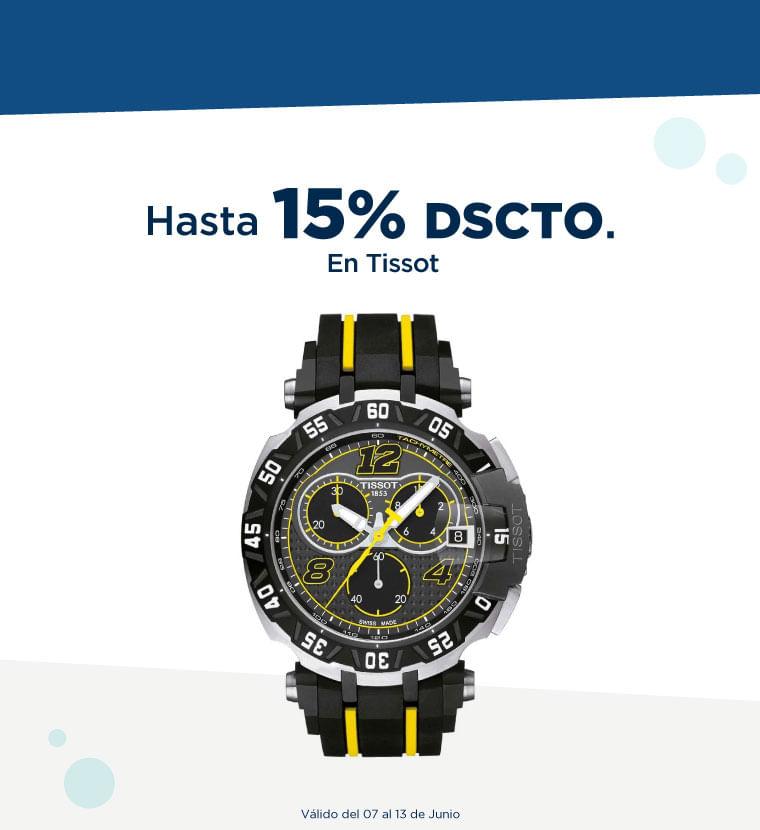 Hasta 15% de descuento en Tissot