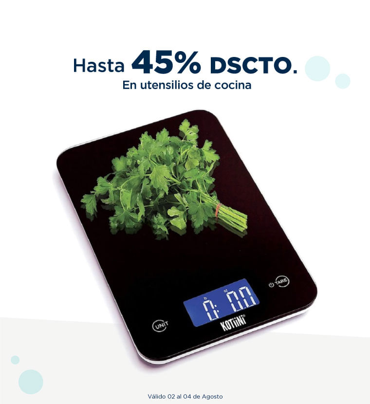 Hasta 45% de descuento en utensilios de cocina
