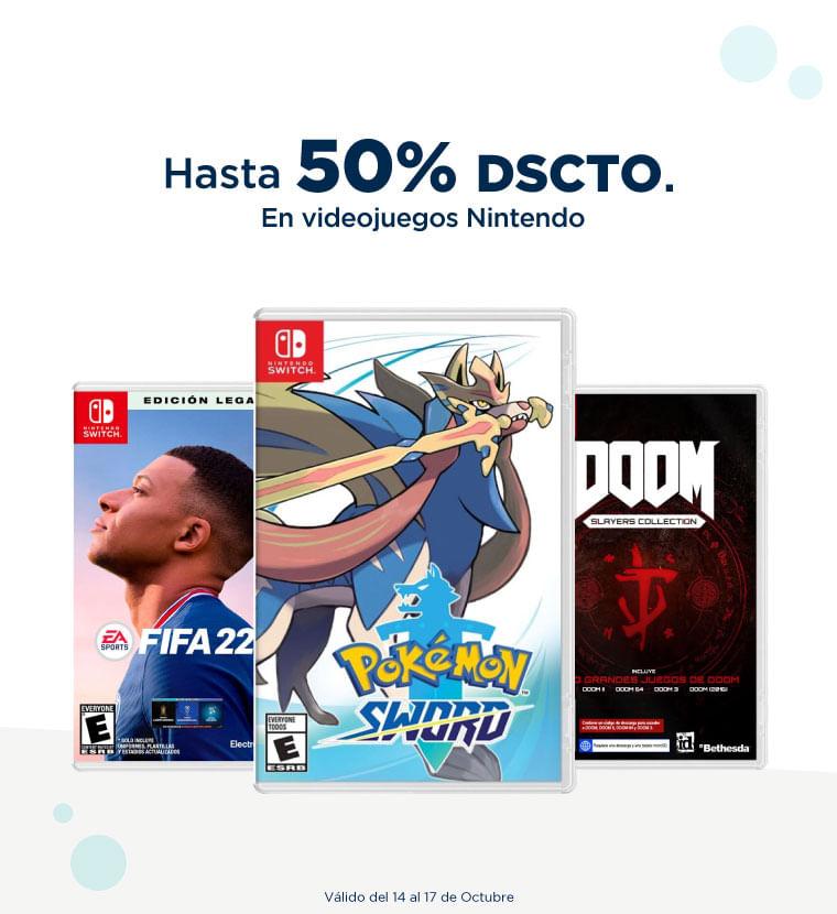 Hasta 50% de descuento en Videojuegos Nintendo