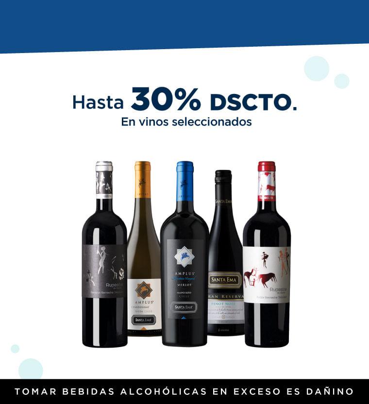 Hasta 30% de descuento en Vinos Seleccionados
