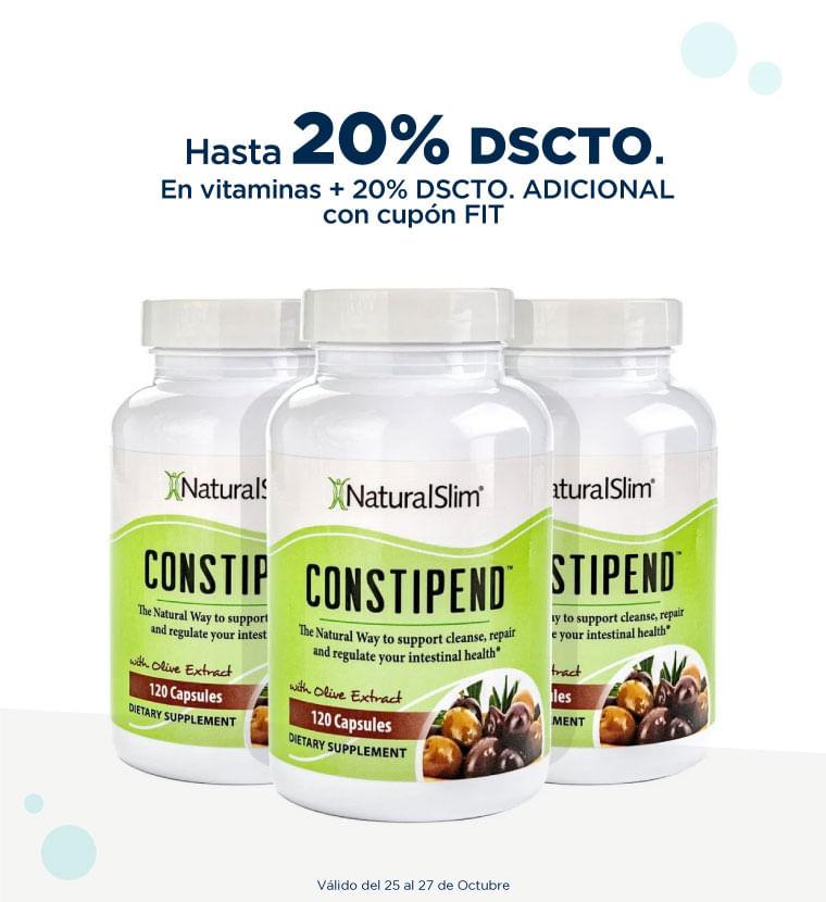 Hasta 20% de descuento en vitaminas mas 20% de descuento adicional con cupón FIT